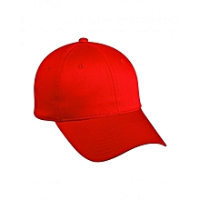 Red Plain Outdoor Activities Cap