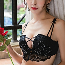 Women's Sexy Fashion Paster Embroidery Bras (Black)
