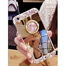 Iphone X/8/8 Plus/7/7 Plus/6S/6S Plus/6/6 Plus Phone Cover Mirror Surface Rhinestone Case____IPHONE X____gold