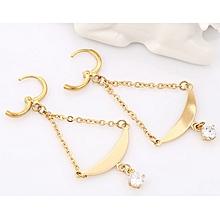 Gold Earring Eardrop