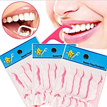 250PCS Utility Dental Floss Flosser Teeth Toothpicks Stick Oral Care Tooth Clean