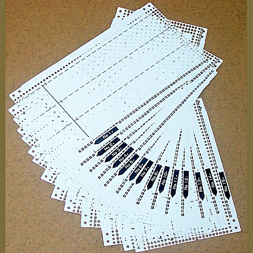 Buy Universal 15pcsset Pre Punched Card Kit For Brother Kh260
