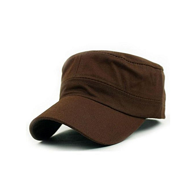 707ac557efc Classic Plain Vintage Army Military Cadet Style Cotton Cap Hat Adjustable CO