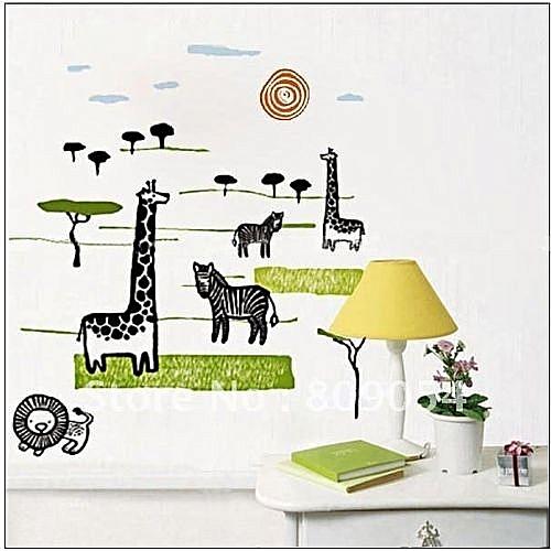 generic diy wall sticker - black giraffe (jm 7076) @ best price