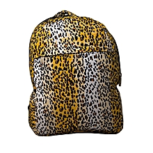 Durable cotton school bag with cheetah prints