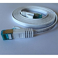 Brand 0.5M Aurum Cables Flat CAT6 Flat UTP Ethernet Network Cable RJ45 Patch LAN Cable /Ethernet Cables Metal Crystal Head White