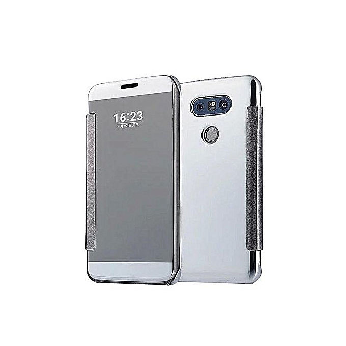 reputable site 442e0 5acaf Mooncase Case For LG G5 Flip Specular Mirror Protective Cover Case With  Smart Sleep Silver