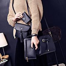 Xiuxingzi Women Four Set Fashion Handbag Shoulder Bag Four Pieces Tote Bag Crossbody Wallt