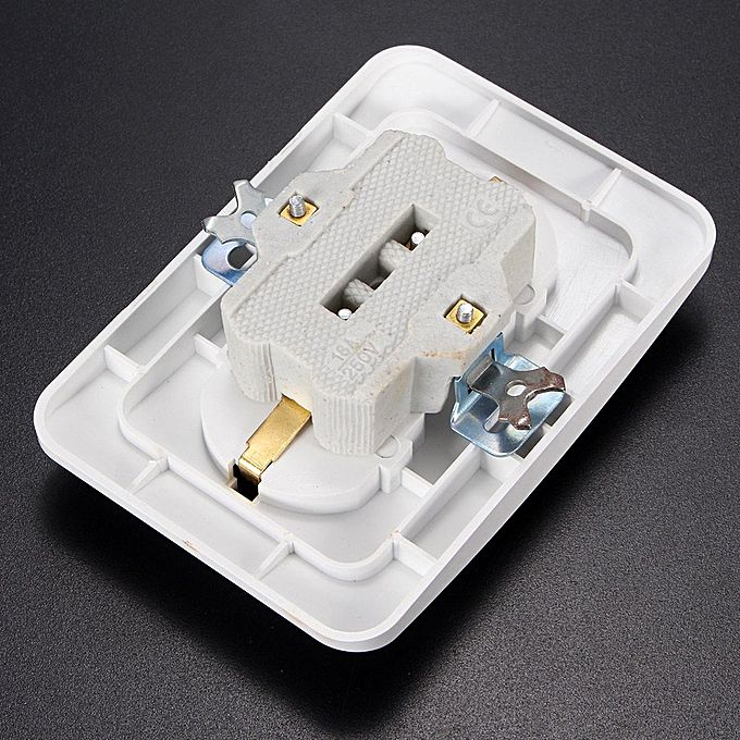 White Flame-resistant Wall Power Socket Two Outlets ...