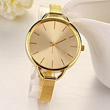 Fashion Luxury Gold/Silver Quartz Lady Women Wrist Watch-Gold