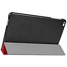 9.6 Inch Karst Texture Horizontal Flip Solid Color Leather Case with Three-Folding Holder for Huawei Honor Play Note 9.6(Red)