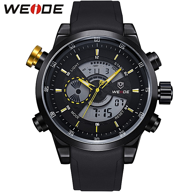 3e5476ce71 Military Army Men Sports Full Stainless Steel Quartz Watch LCD Analog  Digital Waterproof Calendar Alarm Watches Men Gifts