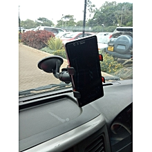 Universal Plastic Car Phone Holder - Black