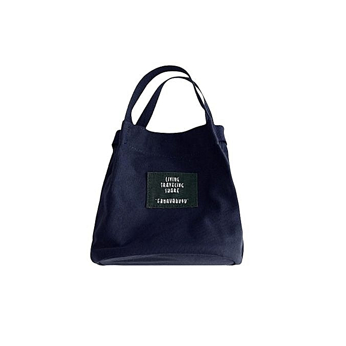 UJ Korean Style Fashion Canvas Handbag Shoulder Bag Girls Woman Crossbody-Dark  Blue e028dc4901515