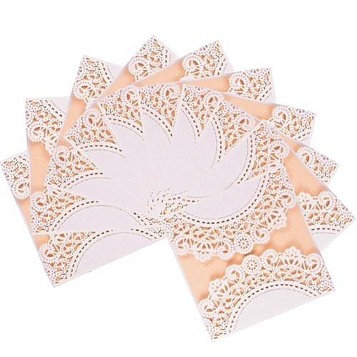buy generic 10x elegant square laser cut floral hollow wedding