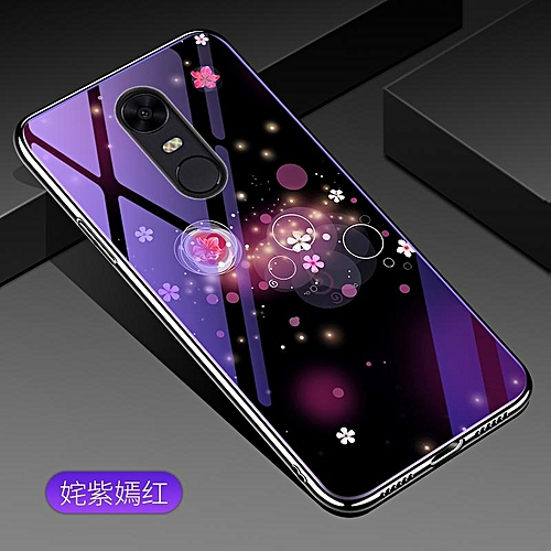 online retailer 0f80c 52bfe For Xiaomi Redmi 5 Plus Lovely Cartoon Wolf Flower Blue Light Back Cover  For Xiaomi Redmi 5 Plus Anti-Explosion Tempered Glass Case Fundas 5.99inch  ...