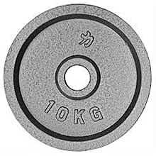 10kg gym weight black cast iron plate