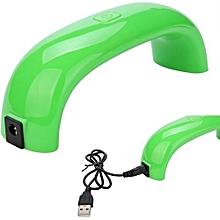 bluerdream-9W Women Fashion USB LED Lamp Light For Nail Dryer Nail Art Tools 8 Colors B-Green