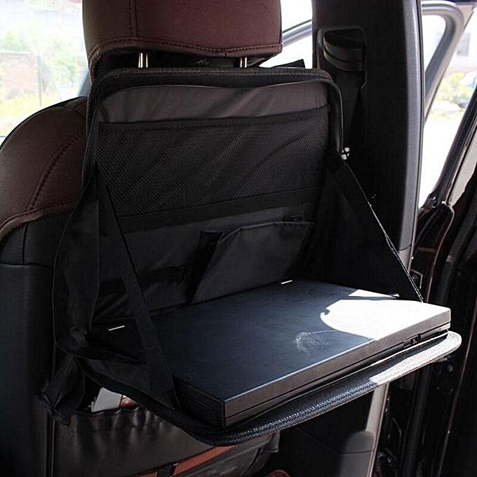 Kobwa Car Seat Desk Foldable Book Drink Food Backseat Tray Holder Organizer Storage Bag