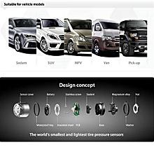 TP-79 DIY Wireless TPMS Tire Pressure Monitoring System With Adjustable LCD Display Cigarette Plug Diverter 4 External Sensors Bar Unit
