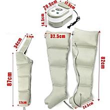 Air Circle Compression Massager Circulation Pressure Massage Leg Arm Cuff Dark Grey