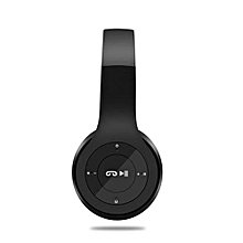 P47 Wireless Bluetooth Stereo Over-Ear Headphones - Black