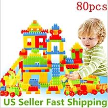 80Pcs Building Block Toy Kids Puzzle Educational Plastic Toy