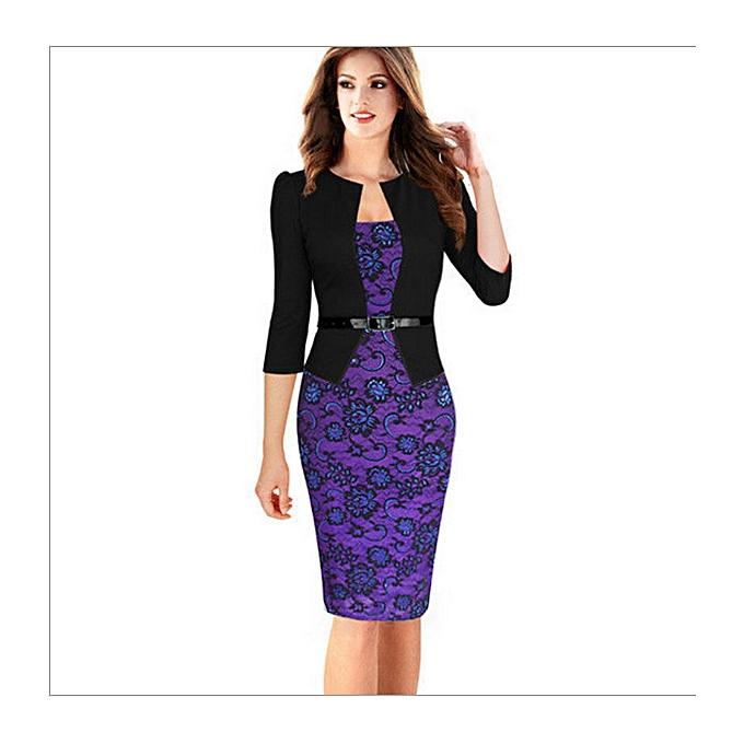 e1275cd4d3c FASHION Women Office Dress Plus Size Jacket Work Business Dresses ...