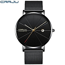 Man Watches Analog sports Wristwatch Display Date Men's Quartz Watches Business Watch Men Watch - Black