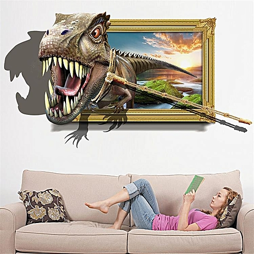 Generic Honana 3D Dinosaur Wall Stickers Home Decor Mural Art Removable Wall  Decals fa190b04cf