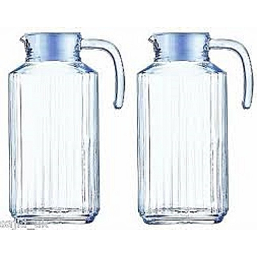 bee447be66ae LUMINARC 2 Pcs of Glass Jugs with Lids   Best Price