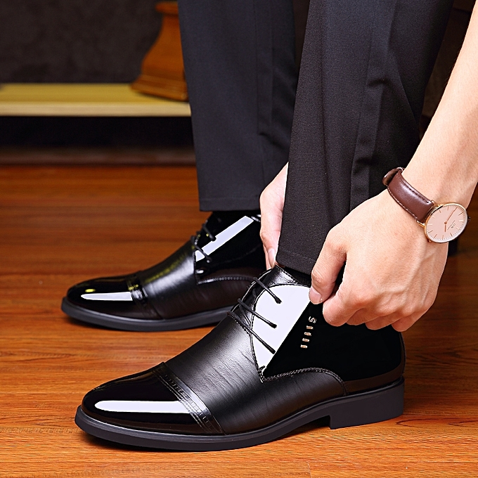 Winter High Tops Formal Office Shoes Men Business Casual Shoes (Black) 37c6999d38