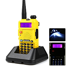 BAOFENG UV-5R VHF / UHF Walkie Talkie 128 Channel with LED Light-YELLOW