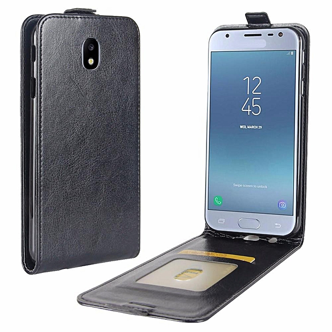 PU Leather Flip Cover Case for Samsung Galaxy J3 2017 (European Version)