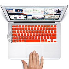 """13"""" Air Skin, US Type English Silicone Keyboard Cover For 2008-2015 Macbook 13.3"""" 15"""" Pro Reitna/Imac G6, Orange"""
