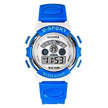 Blue Lans Boys Blue Rubber Strap Sport Watch