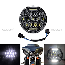 "7"" Motorcycle Headlight High Low Beam Round For Harley Davidson Jeep 1PC 75W"