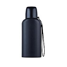 Portable Mountaineering Pot Outdoor Flat Water Bottle Large Capacity Sports Bottle Stainless Steel Insulation Cup(Blue)