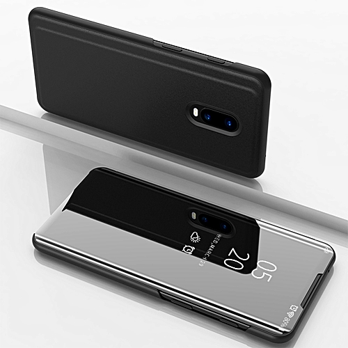 big sale 877e7 1d3d9 OnePlus 6T Case, Translucent View Window Front Cover Mirror Screen Flip  Smart Stand Full Body Protective Case for OnePlus 6T 6.41