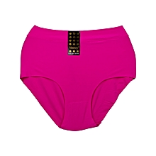 Hot Pink Seamless Fancy Cotton All Weather Ladies Panty