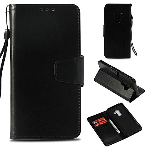 finest selection f3fa7 cacca PU Leather Wallet Case Cover for Samsung Galaxy S9 Plus