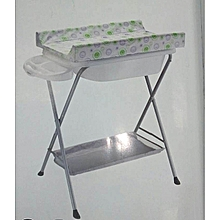 Baby bath stand with a changing table- Green