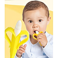 5PCS Banana Brush Baby Soft Chewable Silicone Toothbrush and Teether Without BPA