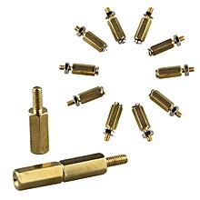 5SETS DIY 11MM Hex Brass Cylinder + Screw + Nut Kits For Raspberry Pi