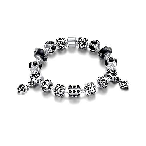 3b19832c2 BlueLife Women Silver Charm Pandora Bracelet -Black @ Best Price ...