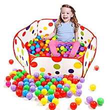 Pop Up Hexagon Polka Dot Children Ball Play Pool Tent Carry Tote Toy
