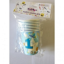 1st birthday cups-8 pieces-Blue