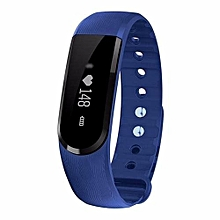 ID101 Smart Bracelet With Heart Rate Monitor Wristband Bluetooth Fitness Tracker(Blue)