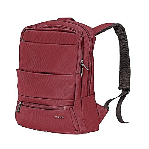Promate Apollo-BP  Red Laptop Backpack, Slim Lightweight Dual Pocket Water  Resistance Backpack with Multiple Compartment and Anti-Theft Pocket for  15.6 Inch ... 1fb769170b