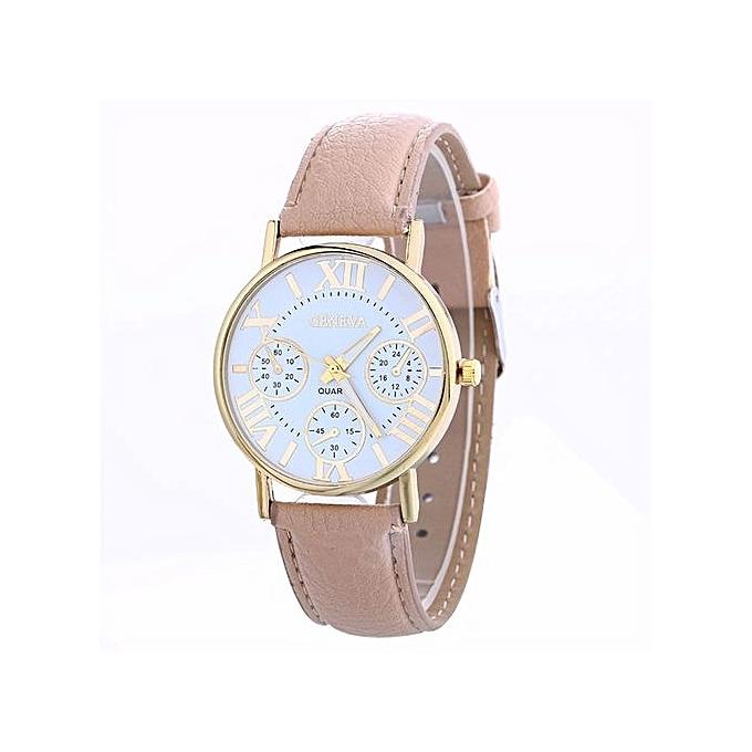 be2a9f421 Geneva Women's Wrist Watch Women Creative Watch Leather Strap Belt Table  Watch ...